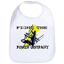 Fight The Power Company! Bib