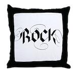 Guitar Rock Throw Pillow