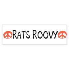 Rats Roovy bumper sticker.