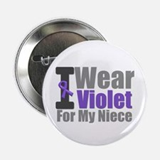 "Hodgkin's I Wear Violet 2.25"" Button"
