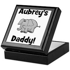 Aubrey's Daddy Elephant Keepsake Box
