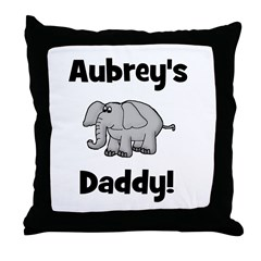 Aubrey's Daddy Elephant Throw Pillow