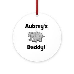 Aubrey's Daddy Elephant Ornament (Round)