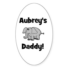 Aubrey's Daddy Elephant Oval Decal