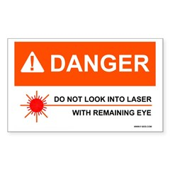 Danger Rectangle Decal