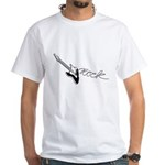 Guitar Rock White T-Shirt