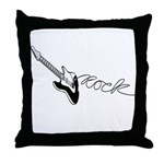 Guitar Rock Throw Pillow