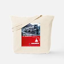 Baldwin S-2 Steam Locomotive Tote Bag