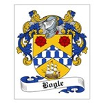 Bogle Family Crest Small Poster