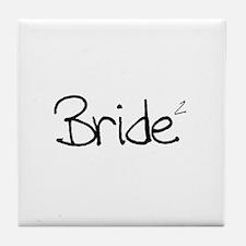 Bride (Squared) Tile Coaster