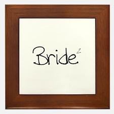 Bride (Squared) Framed Tile