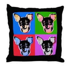 Pop Art Chihuahua Warhol style Throw Pillow