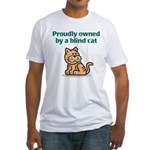 Proudly Owned (Cat) Fitted T-Shirt