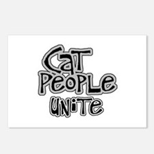 Cat people unite Postcards (Package of 8)