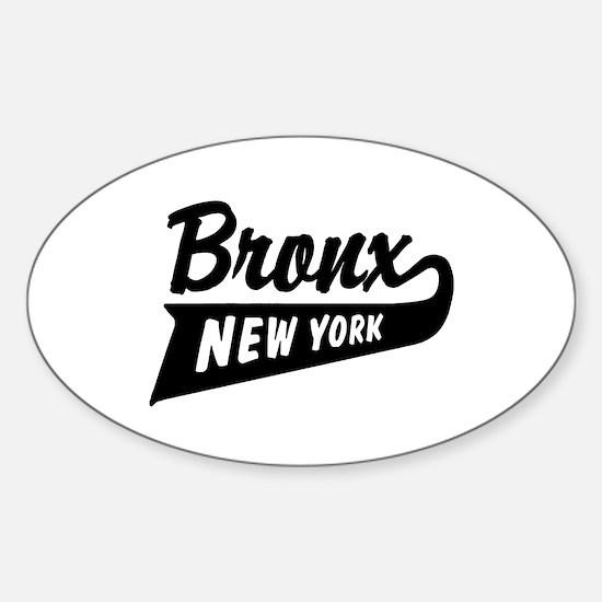 Bronx New York Oval Decal