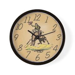 Bronco Buster Wall Clock