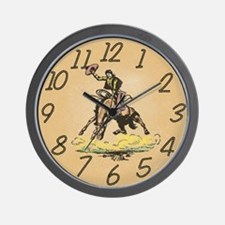 Bronco Buster Wall Clock