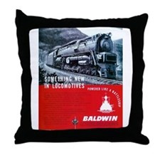 Baldwin S-2 Steam Locomotive Throw Pillow