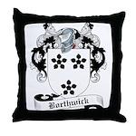 Borthwick Family Crest Throw Pillow