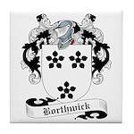 Borthwick Family Crest Tile Coaster