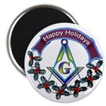 Masonic Holiday Magnet
