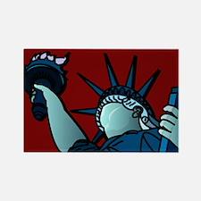American Liberty Rectangle Magnet