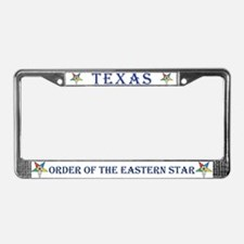 Texas OES License Plate Frame
