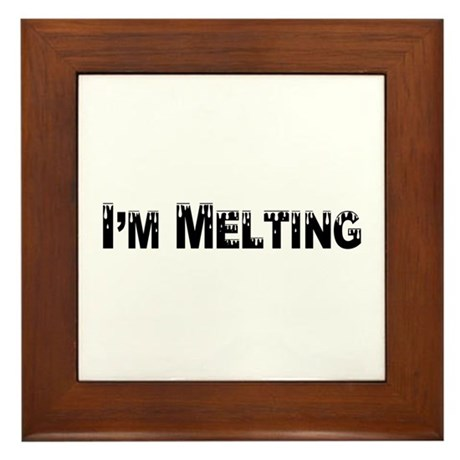 I'm Melting Framed Tile