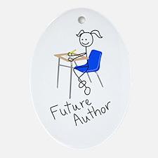 Future Author Oval Ornament
