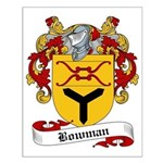 Bowman Family Crest Small Poster