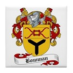 Bowman Family Crest Tile Coaster
