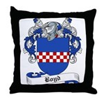 Boyd Family Crest Throw Pillow