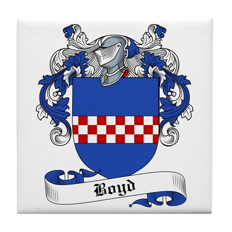 Boyd Family Crest Tile Coaster