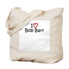 I Love Bob Barr Tote Bag