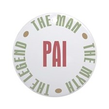 Pai Brazilian Dad Man Myth Legend Ornament (Round)