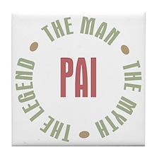 Pai Brazilian Dad Man Myth Legend Tile Coaster