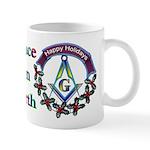 Masonic Peace on Earth Holiday Mug