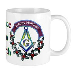 Masonic Peace on Earth Holiday Mug