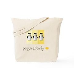 Penguins. Lovely. Tote Bag