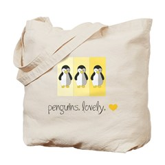 Penguins. Lovely. Tote Bag