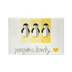 Penguins. Lovely. Rectangle Magnet