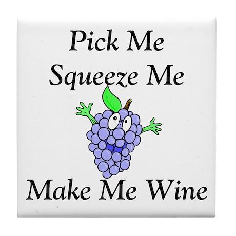 Make Me Wine Tile Coaster