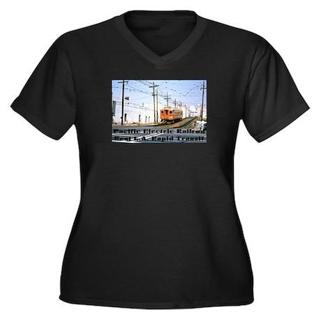 The Blimp Women's Plus Size V-Neck Dark T-Shirt