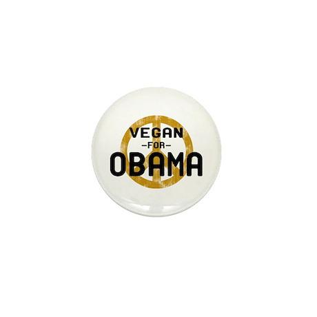 Vegan For Obama Mini Button
