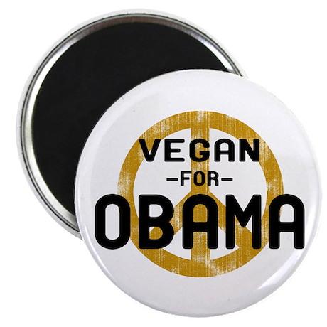Vegan For Obama Magnet