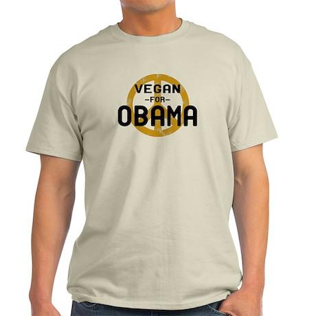 Vegan For Obama Light T-Shirt