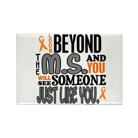 Look Beyond 1 (MS) Rectangle Magnet (10 pack)