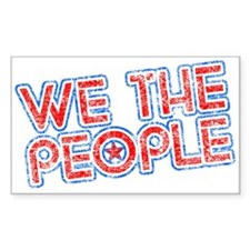 We The People Patriotic Rectangle Decal