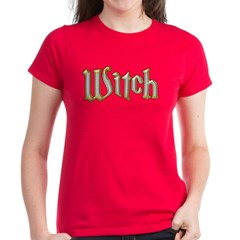 Witch Text Silver Gold Tee