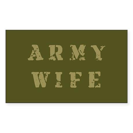Army Wife Rectangle Sticker 10 pk)